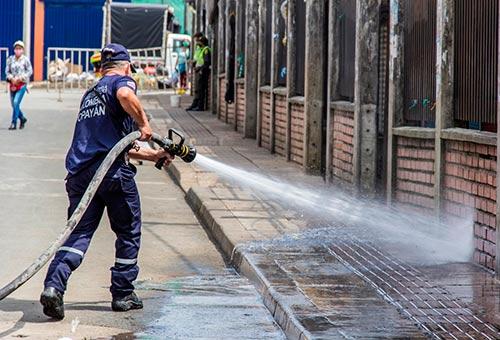 Administración Municipal realizó jornadas de desinfección en La Esmeralda