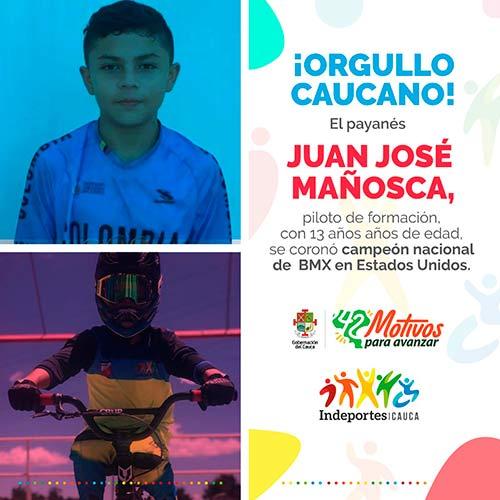 Reconocimiento Deportista Juan José Mañosca: