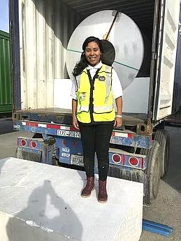 Susana Fernanda Lizcano, ingeniera ambiental de la Universidad Nacional de Colombia