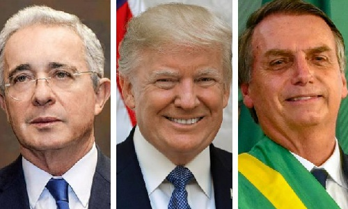 Trump, Bolsonaro y Uribe
