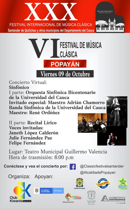 VI Festival de Música Clásica en Popayán