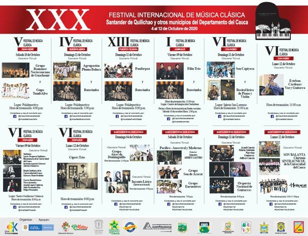 XXX Festival Internacional de Música Clásica de Santander de Quilichao 2020