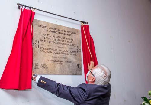 Museo Negret reabrió sus puertas y rindió homenaje al maestro payanés