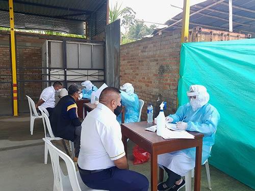 Secretaría de Salud aplica pruebas rápidas para transportadores del municipio