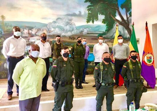 Alcaldía de Caloto conmemoró los 129 años de la Policía