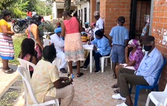 Beneficiarios del Salto Afro cumplen su labor social en Guachené