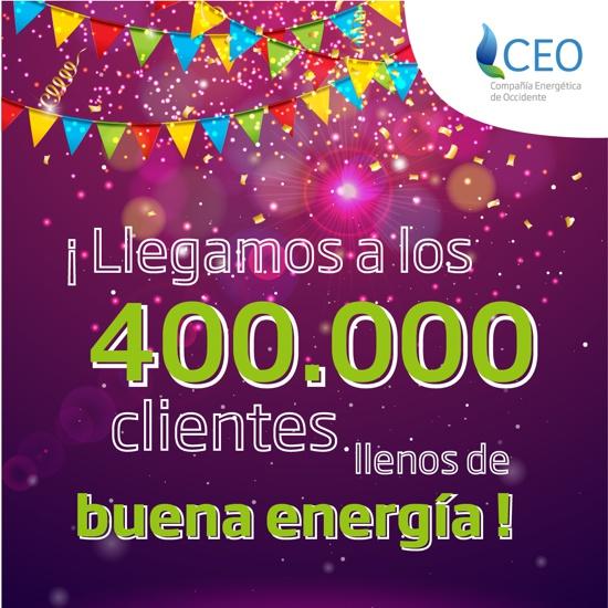 ¡CEO llega a los 400.000 clientes!