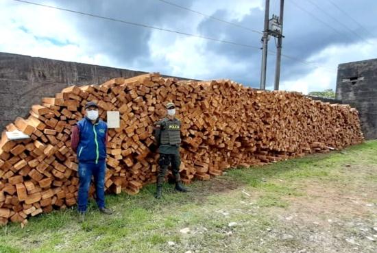CRC y Policía decomisan madera ilegal en Piamonte