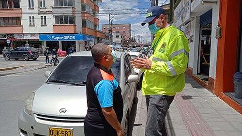 Con pedagogía y control la Secretaría de Tránsito realiza despeje vial en el sector de colchonerías