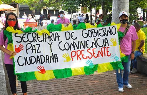 Conmemoración de la No Violencia Contra La Mujer, en Santander de Quilichao
