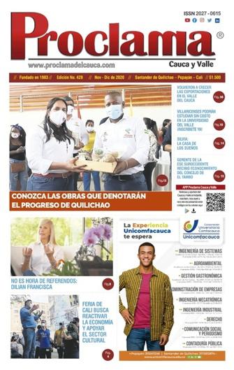 Edición Impresa #428 de Proclama Cauca y Valle