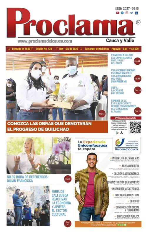 En circulación Edición Impresa #428 de Proclama Cauca y Valle