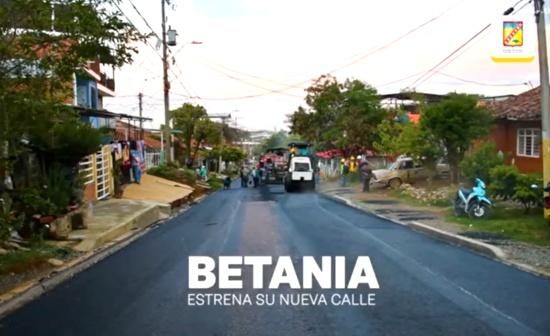 En Betania esperaron más de 40 años para ver sus vías pavimentadas