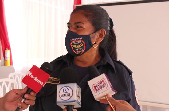 Esther Inés Fernández, capitana - comandante de la Estación de Bomberos de Quilichao