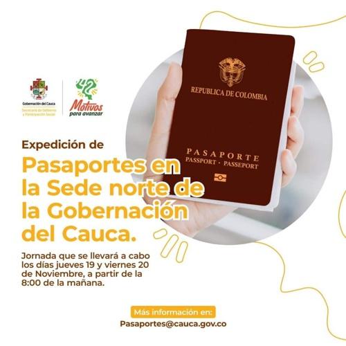 Gran jornada de expedición de pasaportes en el norte del Cauca