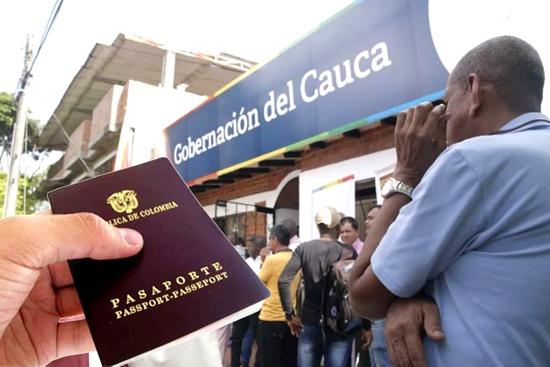 Gran jornada de expedición de pasaportes en el norte del Cauca - Casa de la Gobernación