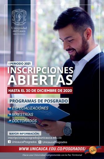 Inscripciones abiertas en la Universidad del Cauca hasta el 30 de diciembre
