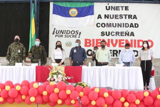 Inversión educativa, vial y ambiental para el municipio de Sucre