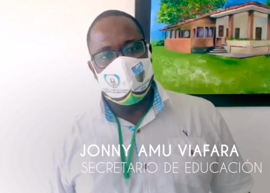 Jhonny Amú Viáfara - Secretario de Educación de Guachené