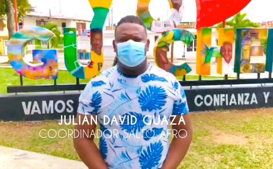 Julián David Guazá - Coordinador Salto Afro de Guachené