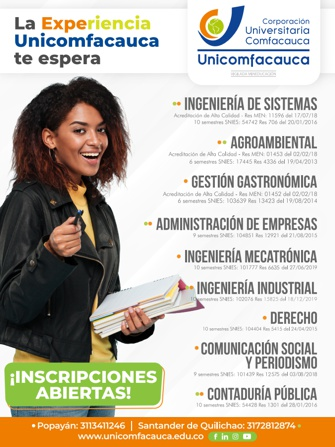 La experiencia Unicomfacauca te espera