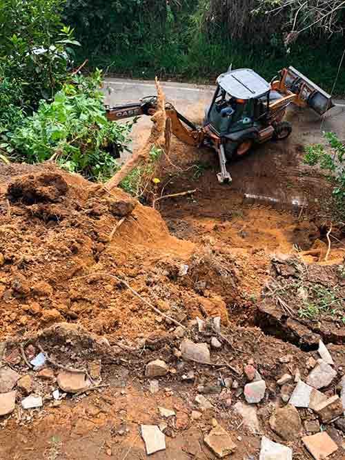Rápida reacción de Gestión del riesgo Municipal ante deslizamiento de tierra