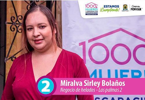Sirley Bolaños incrementará sus ingresos con el apoyo que recibió para su heladería