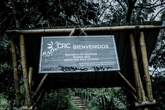 Vandalismo contra área de conservación en cerro Las Tres Cruces de Popayán