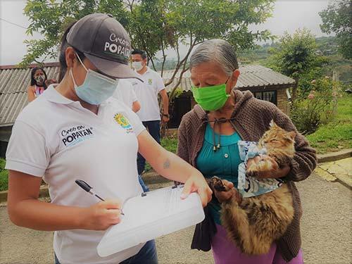 Más de 300 perros y gatos vacunados en jornada por la salud y la convivencia en el barrio Jorge Eliécer Gaitán