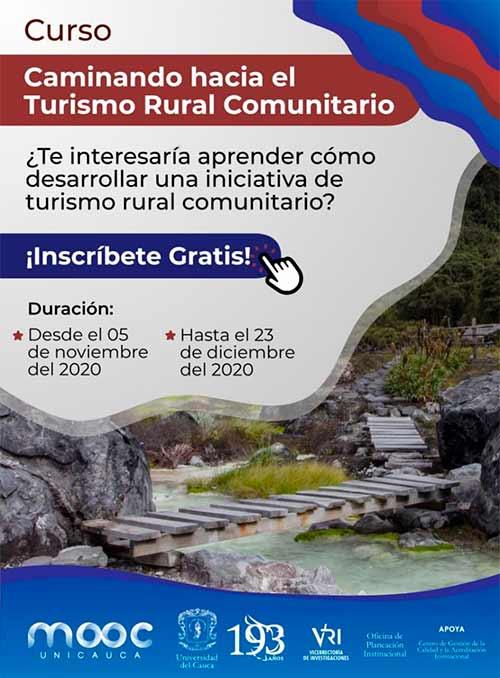 Unicauca impulsa curso virtual sobre turismo rural comunitario