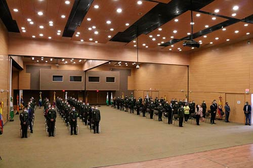 Popayán rindió homenaje a la Policía Nacional