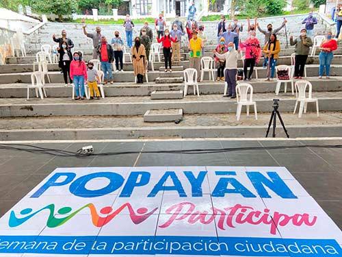 Todos los sectores sociales de Popayán se sumaron a la Semana de la Participación