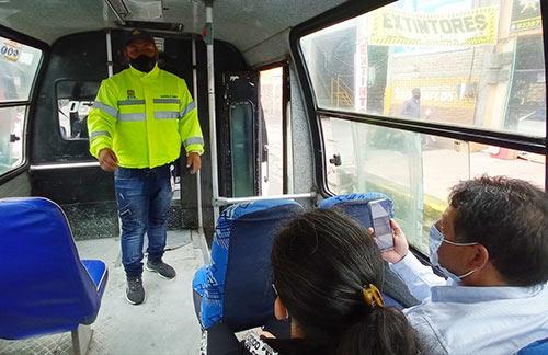 Con operativos en los vehículos de transporte público la Administración le responde a denuncias de la ciudadanía
