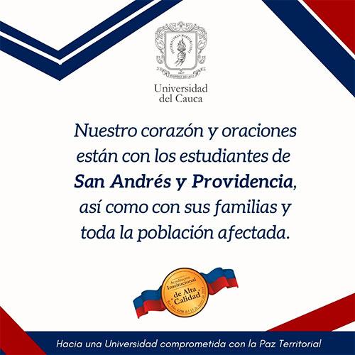 Unicauca entregará apoyos a estudiantes de San Andrés