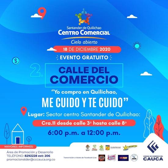 Centro Comercial a Cielo Abierto en Santander de Quilichao - Calle del Comercio