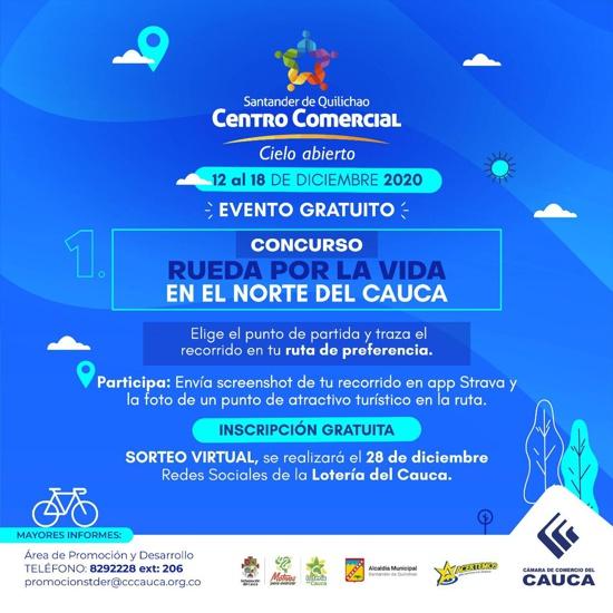 Centro Comercial a Cielo Abierto en Santander de Quilichao - Rueda por la Vida