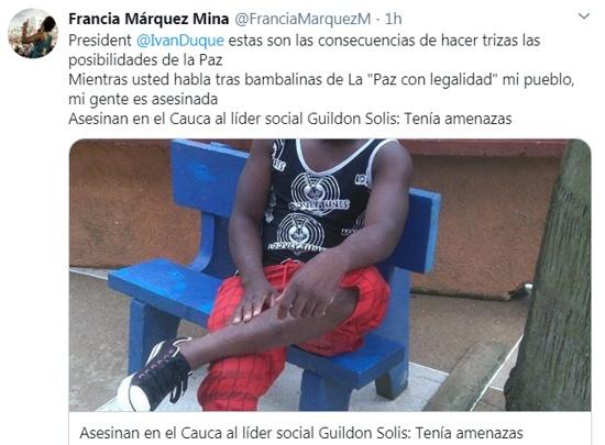 Guildon Solís Ambuila - Asesinan otro líder social en Buenos Aires, Cauca
