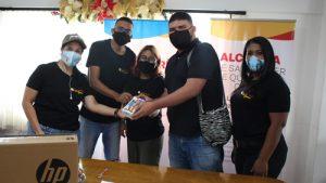 Plataforma juvenil de Quilichao recibe donación en equipos