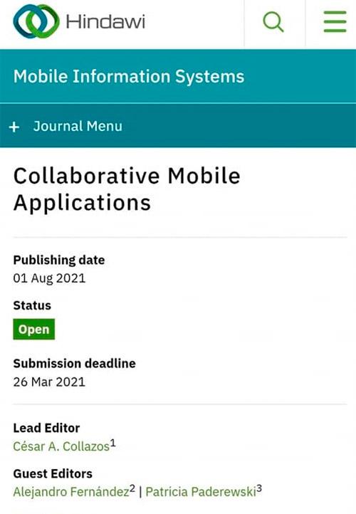 Docente de Unicauca será editor líder en publicación internacional sobre aplicaciones colaborativas en móviles