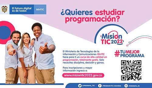 En busca de 100 mil colombianos que quieran formarse en programación