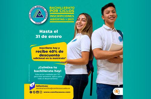 Culmine su bachillerato en el Centro Educativo Comfacauca
