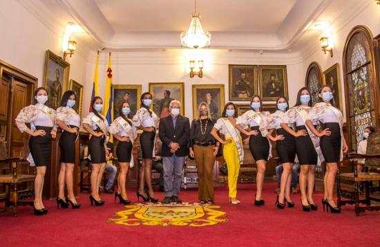 Con un despliegue de belleza se dio apertura al Carnaval de Pubenza 2021 - Imposición de bandas a las reinas