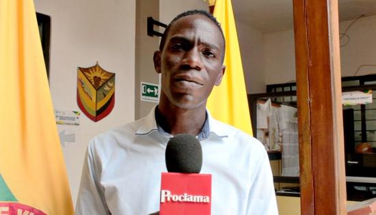 Jonathan Garces secretario de educación, cultura y deporte de Villa Rica