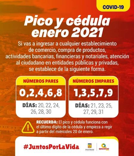 Pico y Cédula en Santander de Quilichao - Enero de 2021