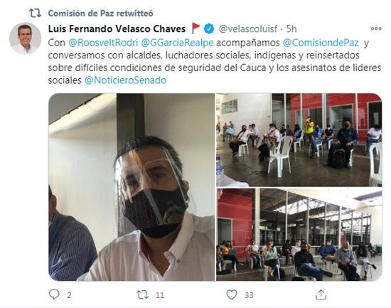 Twitter Luis Fernando Velasco