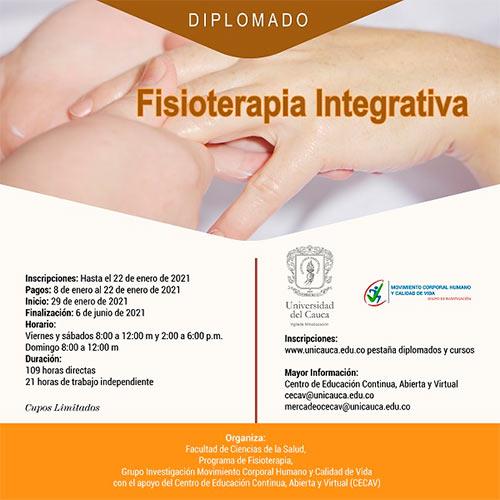Diplomado en Fisioterapia Integrativa, una oportunidad de salud basada en la sinergia del ser humano