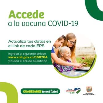 Accede a la vacuna Covid 19 - Alcaldía de Cali