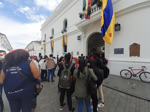 Disturbios Alcaldía de Popayán