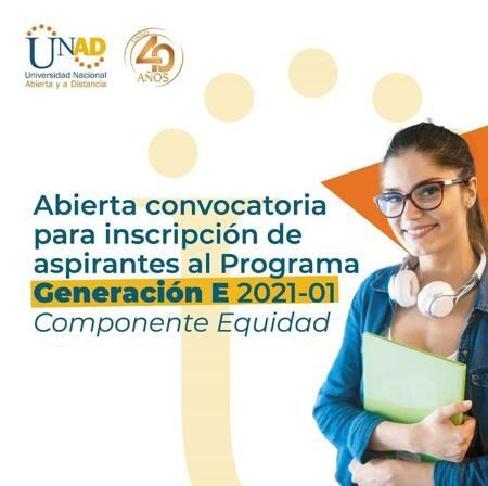 Haz parte de la GENERACIÓN E estudiando en la UNAD