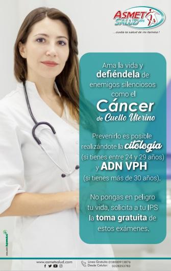 Prevenir el Cáncer de Cuello Uterino es Posible - Asmet Salud